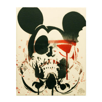 STAR WARS ART Disney Deathtrooperz Original Painting on 8x10 Canvas With Stencils Spray Paint Original Graffiti Pop Art Inspired