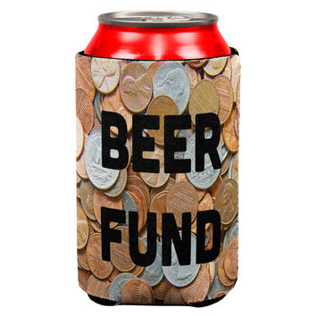 Beer Fund Coin Jar Can Cooler