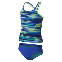 Nike Frequency Spiderback Tankini Girls' Two-Piece Swimsuit