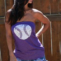 Baseball  FD Feel Naked Tshirt Tube Tops- 13 tube top colors and 14 ink colors.
