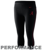 Nike Alabama Crimson Tide Women's Logo Performance Capri Pants - Black