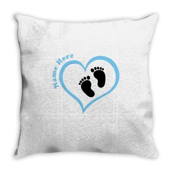 Custom baby boy name maternity design Throw Pillow
