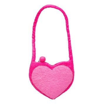 Felt Wool Bag - Kid's Heart Bag