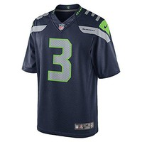 Nike Men's NFL Seattle Seahawks Limited Jersey (Russell Wilson), College Navy, X-Large