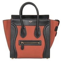 Celine Women's Luggage Leather Bag, Tri-Color, Micro