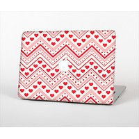 The Hearts and Dots Vector ZigZag Pattern Skin Set for the Apple MacBook Air 13""