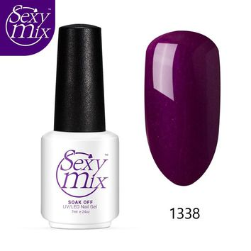 Sexy Mix 126 Colors Nail Gel Varnishes 7ML French Manicure Hybrid Lacquer Hot Sale Gel Paint for Nails Soak off Nail Gel Polish