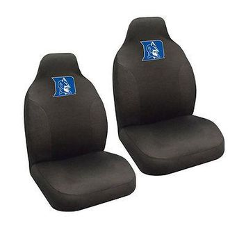 Licensed Official New NCAA Duke Blue Devils Universal Fit Car Truck 2 Front Seat Covers Set