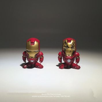 Disney Marvel Avengers Iron Man 4cm Action Figure Posture Anime Decoration Collection Figurine Toy model for children gift