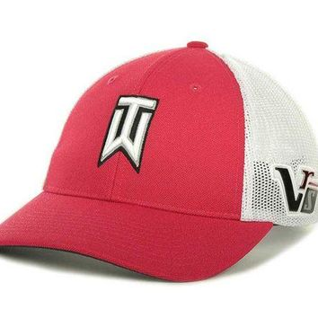 ONETOW Nike Golf Tiger Woods TW Tour Cap Hat - Red / White