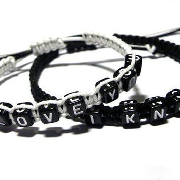 Couples Bracelets  Love and Heart Boyfriend Girlfriend = 1697605188