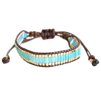 Turquoise & Gold Wrap