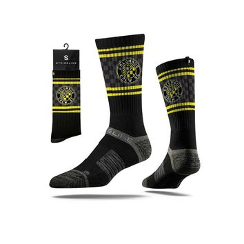 Strideline® 2.0 MLS Columbus Crew SC Black - Black–Neon Yellow–Grey Crew Socks