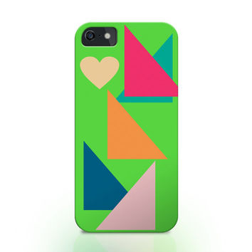 Geometric pattern iphone case, abstract iphone 6 case, abstract pattern iphone 5 case, triangle iphone case, green iphone 6 case, iphone 4s