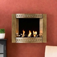 Antique Gold Wall Fireplaces at Brookstone.