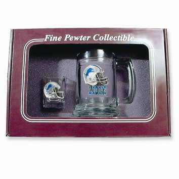 Detroit Lions Shot Glass and Mug Set - Etching Personalized Gift Item
