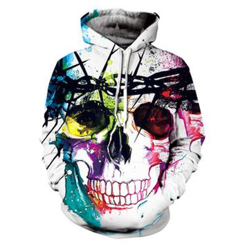 Golden Skull Printed Men 3D Sweatshirts Women Unisex Pullover Hooded Tracksuits Funny Jackets Brand Outwear Harajuku Hoodies