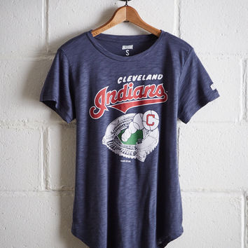 Tailgate Women's Cleveland Indians T-Shirt, Blue