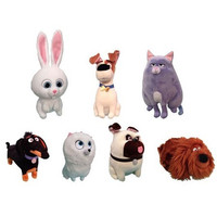 TY Secret Life Of Pets Beanie Babies - SET OF 7