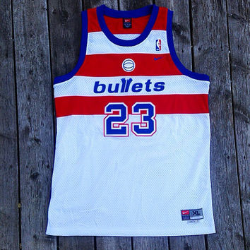 Michael Jordan MJ Throwback Swingman Washington Bullets Jersey XL