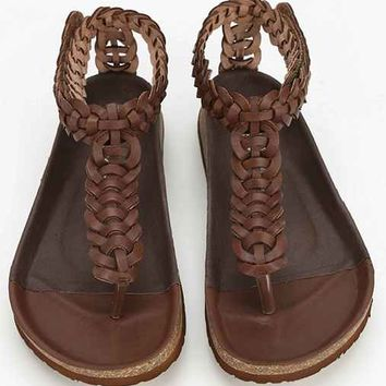 Jeffrey Campbell Adra T-Strap Sandal- Brown