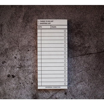 Vintage small to do list shopping checklist notepad