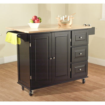 TMS Leo Kitchen Island with Wood Top II
