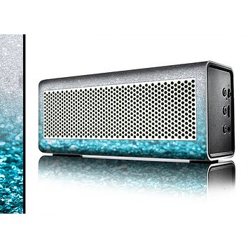 The Turquoise & Silver Glimmer Fade Skin for the Braven 570 Wireless Bluetooth Speaker