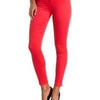 "Refuge ""Hi-Waist Super Skinny"" Colored Jeans - Coral"
