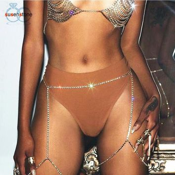 Belly Chains - Shiny Rhinestone Body Jewelry