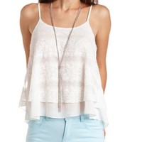 CHIFFON & LACE SWING TANK TOP