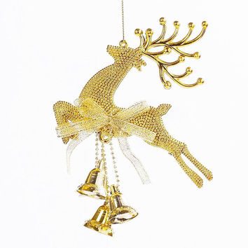 Golden Deer Christmas Tree Decoration Ornaments Hanging Xmas Baubles 74353