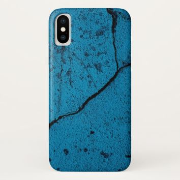 Blue cracked wall Case-Mate iPhone case