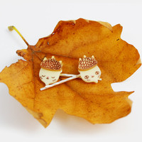 Acorn Jewelry, Autumn Hair Slides