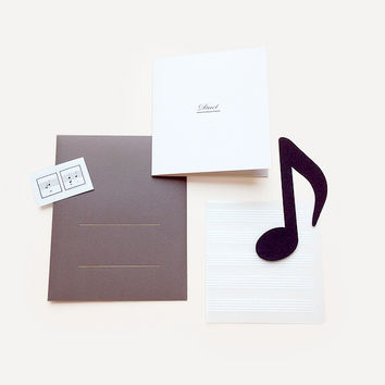 Duet Greeting Card, Gray Version