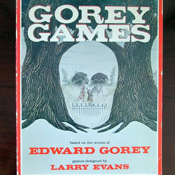 Gorey Games, First Edition Softcover by Edward Gorey, 1979, Troubadour Press