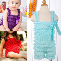 Hot Sell Candy Baby Girl Newborn Posh Lace Ruffle Rompers TuTu One Piece D_L = 1713110340