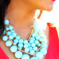 Touch Of Class Bubble Necklace: Mint | Hope's