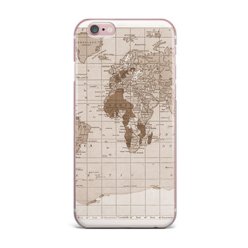 "Catherine Holcombe ""Emerald World"" Vintage Map iPhone Case"