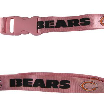 Chicago Bears Lanyard - Breakaway with Key Ring  - Pink