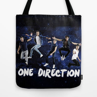 ONE DIRECTION SPACE Tote Bag by dan ron eli