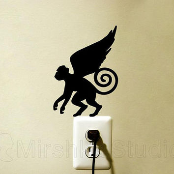 Flying Monkey Light Switch Decor - Wizard Of Oz Velvet Sticker - Winged Monkey  Wall Art - Teen Room Decor - Laptop Decal - iPad Decals