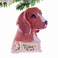 Beagle Christmas ornament - Personalized Beagle ornament - Perfect personalized gift for the pet lover in your life