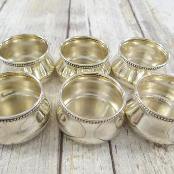 Antique Sterling Salt Cellars, R. Wallace and Sons, Set of Six