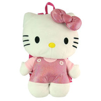 Hello Kitty Plush Backpack With Sequin Bow