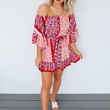 Flirty And Floral Dress: Multi