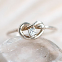 Knot Ring - Sterling Silver - Ring Size 7.5