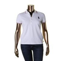 Polo Ralph Lauren Womens Julie Pique Olympic Polo Top
