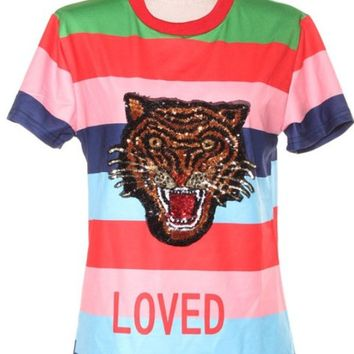 Tigress Tiger Stripe Sequin Shirt