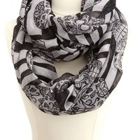Skulls & Stripes Infinity Scarf: Charlotte Russe